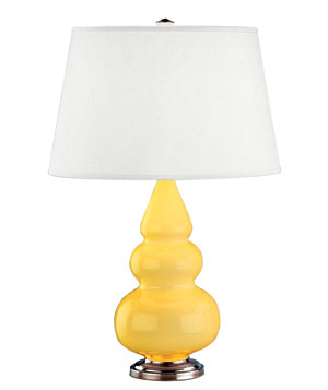 Sassy lamp in butter yellow