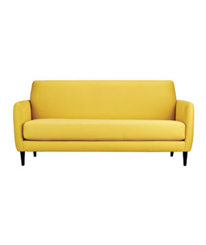 Parlour cotton sofa in Lemongrass