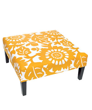 Kristine ottoman in Gerber Sungold from Target