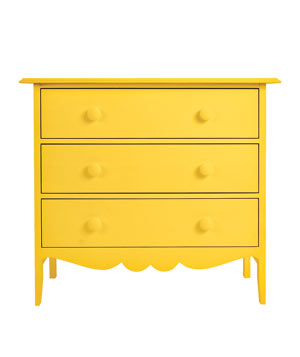 Nellie 3-Drawer yellow dresser
