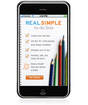 Real Simple iPhone App