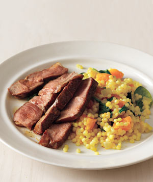 Seared Lamb With Golden Israeli Couscous