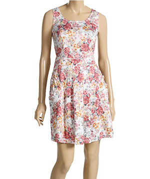 Floral Print Cotton Dress by Moschino