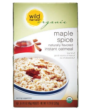 Wild Harvest Organic maple spice oatmeal