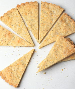 Orange-Poppy Seed Shortbread Wedges