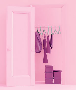 Paper construction of a clothing closet by Matthew Sporzynski