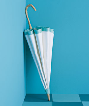 Paper construction of umbrella by Matthew Sporzynski