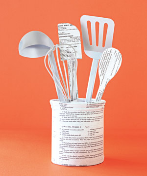 Paper construction of cooking utensils by Matthew Sporzynski