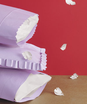 Paper construction of pillows by Matthew Sporzynski
