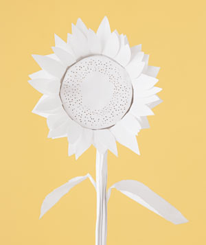 Paper construction of a sunflower by Matthew Sporzynski