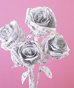 Paper construction of roses by Matthew Sporzynski