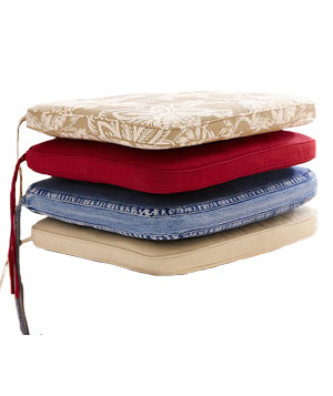 PB Classic seat cushions by Pottery Barn