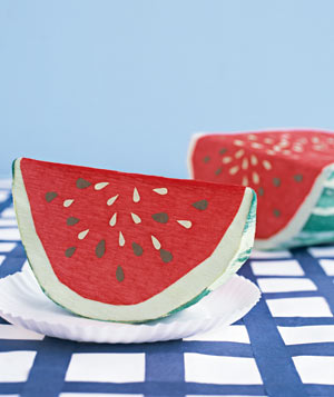 Paper construction of watermelon by Matthew Sporzynski