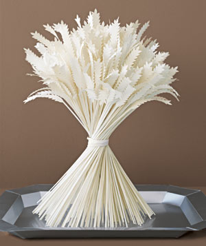 Paper construction of a bunch of wheat by Matthew Sporsynski