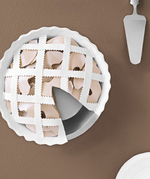 Paper construction of a pie by Matthew Sporzynski