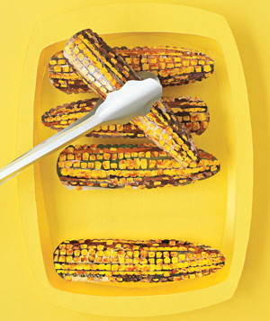 Paper construction of grilled corn by Matthew Sporzynski