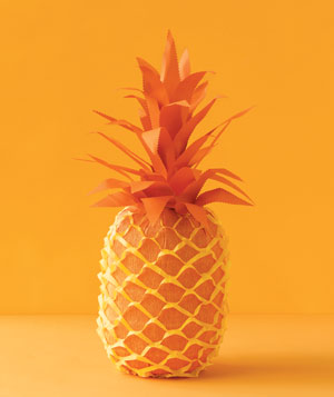 Paper construction of pineapple by Matthew Sporzynski