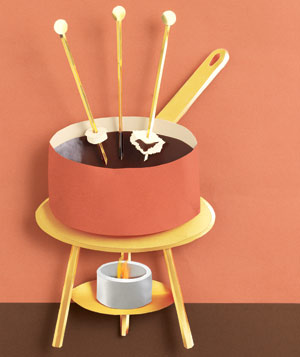Paper construction of fondue by Matthew Sporzynski