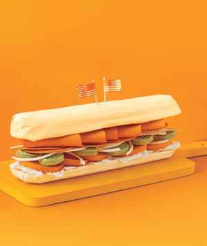 Paper construction of hero sandwich by Matthew Sporzynski
