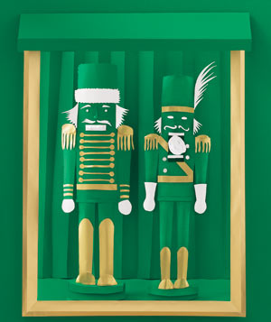 Paper construction of nutcrackers by Matthew Sporzynski