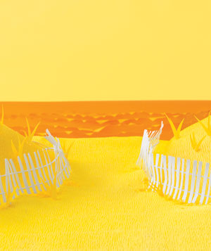 Paper construction of beach dunes by Matthew Sporzynski