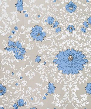 Cole & Son Flowers in Cornflower floral wallpaper