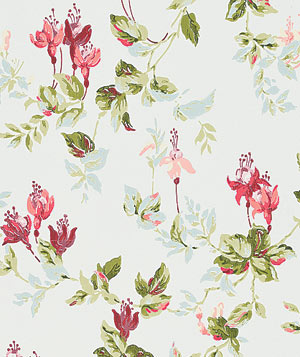 F. Schumacher Garden Gate in Ciel floral wallpaper
