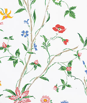 Rebekah Multi on White HP8640 floral wallpaper