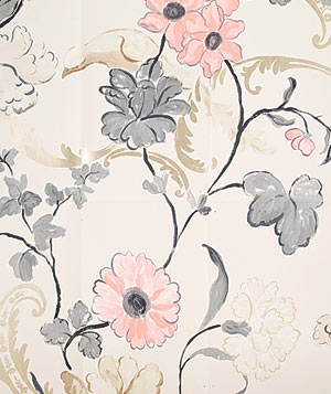 Whitewell Pearl floral wallpaper