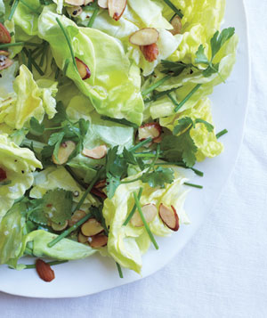 Boston Lettuce Salad with Herbs and Toasted Almonds