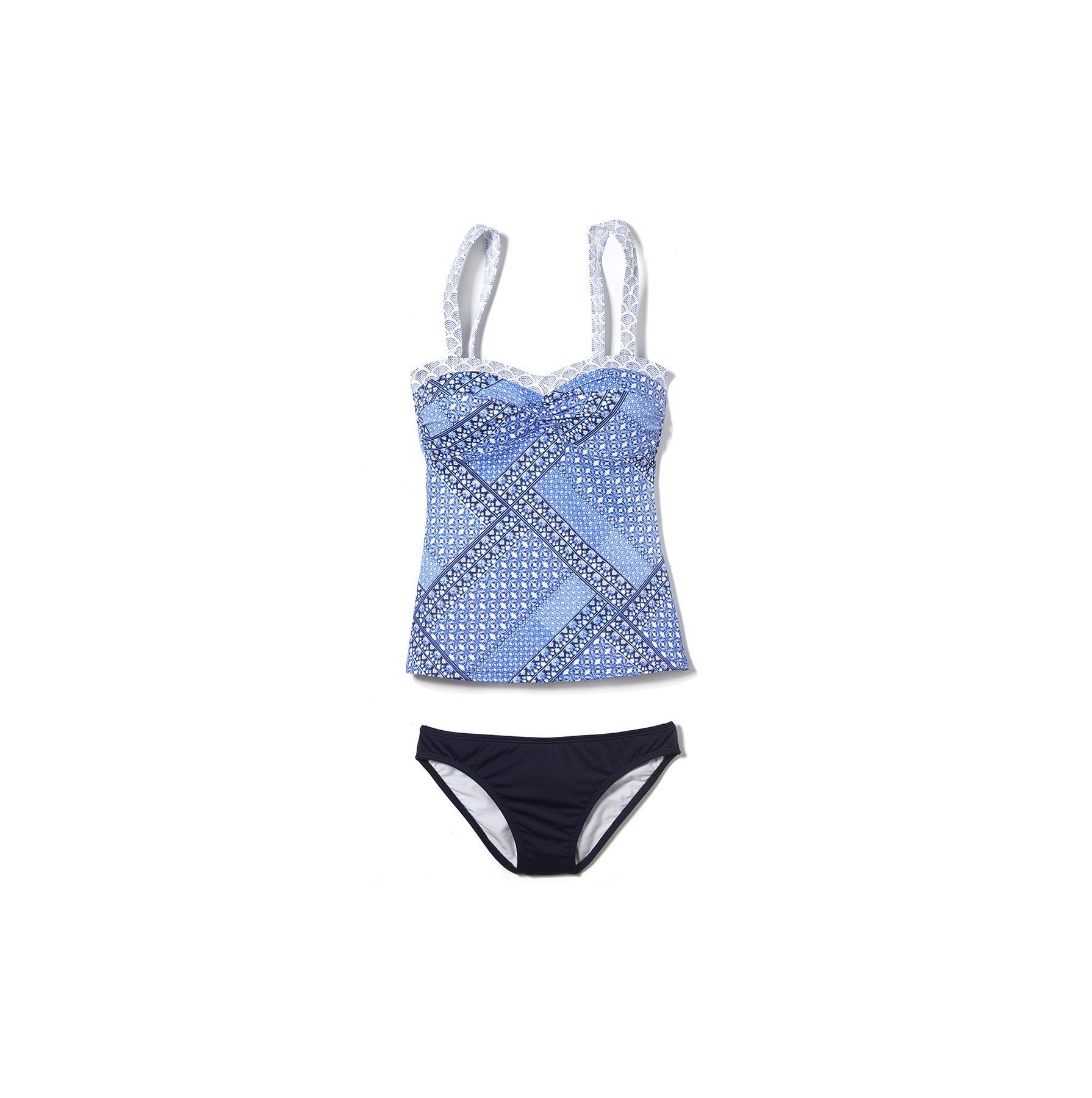 L.L. Bean Mix-and-Match Swim Collection Bandeau Tankini