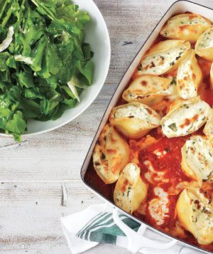 Spinach and Ricotta–Stuffed Shells