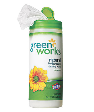 Clorox Green Works cleaning wipe
