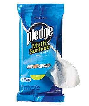 Pledge Multi Surface cleaning wipe