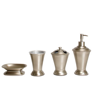Better Homes and Gardens Classic Brushed 3-Piece Bath Accessories Set
