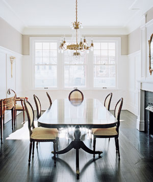 Julie Cusimano's unfinished dining room