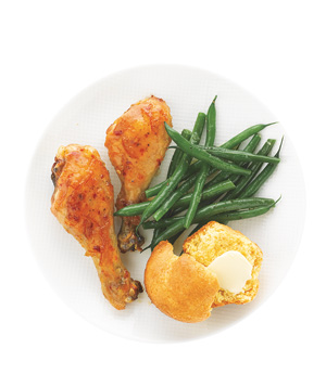 Spicy Orange-Glazed Drumsticks With Green Beans