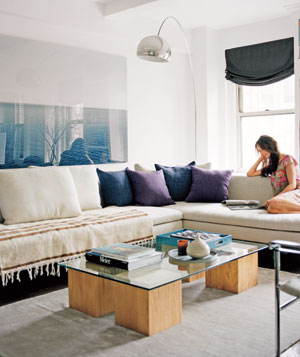 Stacy Moskowitz's finished living room