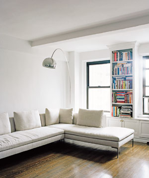 Stacy Moskowitz's unfinished living room