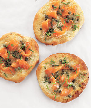 Smoked Salmon Pizzettes
