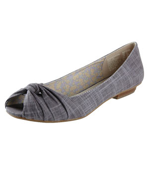 Currant Peep-Toe Flat by Zoe&Zac