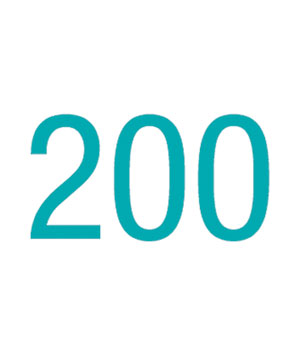 Illustration of the number 200
