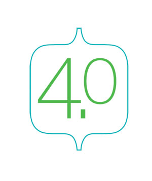 Illustration of the number 4.0
