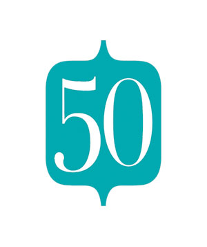 Illustration of the number 50