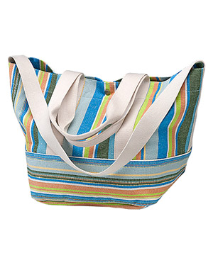 Coldwater Creek Striped Canvas Tote