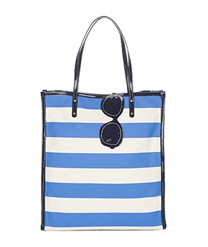 Kate Spade New York Pass The Shades Griffen Striped Canvas Tote