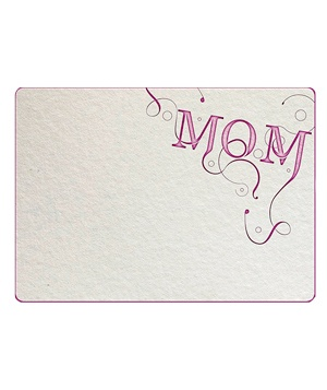 Letterpress-inspired Mother's Day E-card