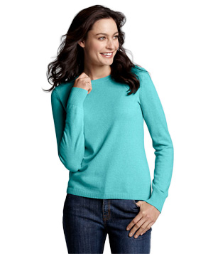 Lands' End Long Sleeve Cashmere T-Shirt