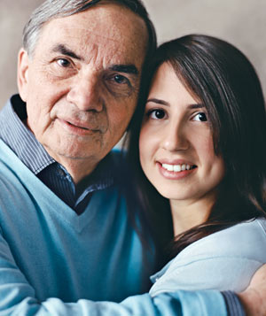 Lauren Epstein with her dad Marvin Reichbach