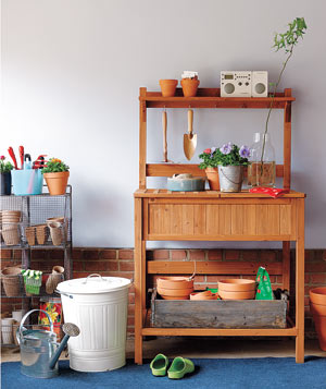 Gardener's Potting bench in garage